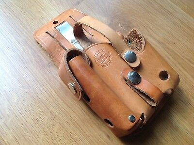 Binocular & Multitool Combo Leather Pouch