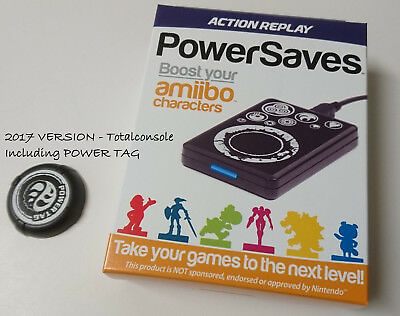 NEW DATEL AMIIBO ACTION REPLAY POWERSAVES FOR AMIIBO CHARACTERs with POWER TAG