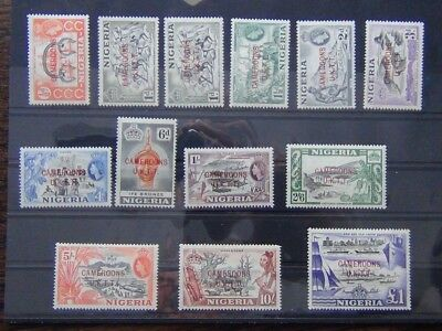 Cameroon Trust Territory 1960 - 1961 set to £1 MM SGT1 - SGT2