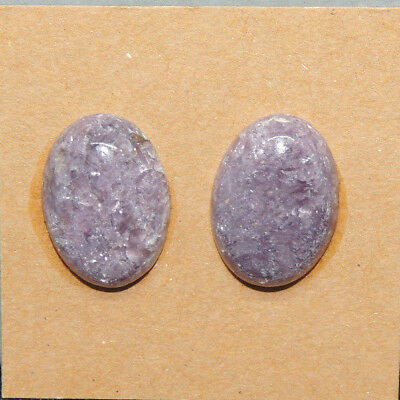 Lepidolite Cabochons 18x13mm with 5mm dome Set of 2 (13647)