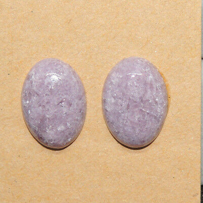 Lepidolite Cabochons 18x13mm with 5mm dome Set of 2 (13653)