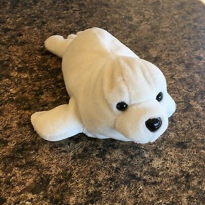 "Seaworld White Baby Seal Plush 9"" Long Sea World"