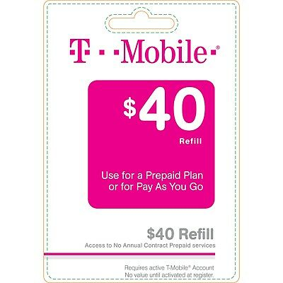 T-Mobile $40 Refill. Fast & Right
