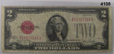 1928 F $2 United States Note Vf Red Seal #4110