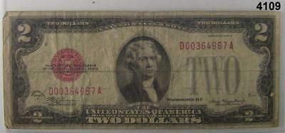 1928 D $2 United States Note Fine Red Seal #4109