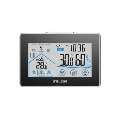 Wireless Indoor Outdoor Weather Station Thermometer Humidity Touch Button A N3W8