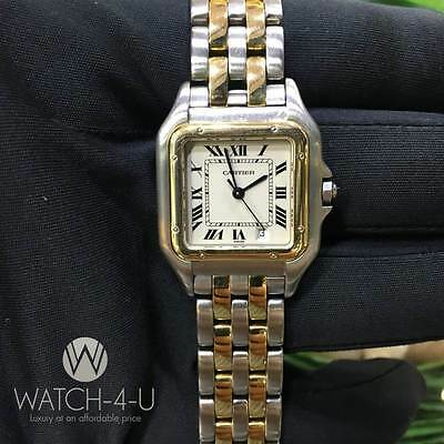 Very Rare and Unique Cartier Panthere 27mm 18k Solid Gold / Steel Womens Watch