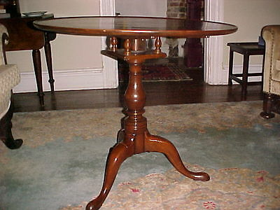 Antique Tilt Top Tea Table 18th Cent Mahogany With Revolving Barley Twist Base Furniture Tables