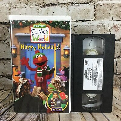 Sesame Street Elmo S World Happy Holidays Clamshell Vhs