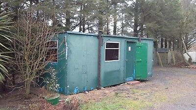 Portable Cabin 6.7m x 2.4m. Watertight and dry and in reasonable condition