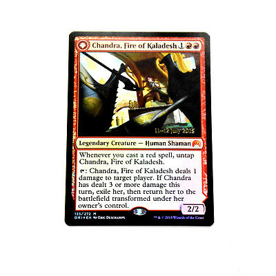 MTG CHANDRA, FIRE OF KALADESH Prerelease Cards (LP) English Mythic Foil