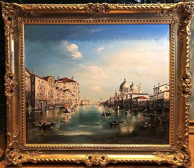 Oil Painting Venice Master Large Circa Early - Mid 20Th Century Russian School