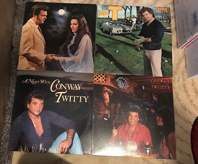 Lot Of 4 Vintage Conway Twitty 33's, LP, Records Country Music
