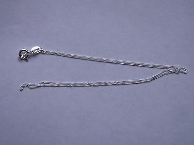925 Sterling Silver Chain Necklace .925 Italy 16 inches