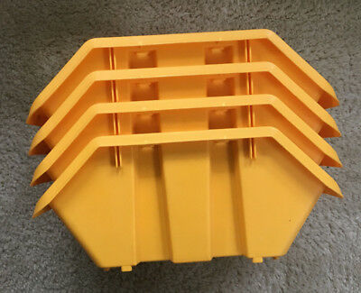 Ordinaire ZAG Storage Bin Drawer Stackable Durable Yellow Lot Of 4 Tool Parts  Organization
