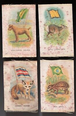 Lot 55: 1910s SC5 Imperial Tobacco Animals & Flags group of 4 silk tobacco