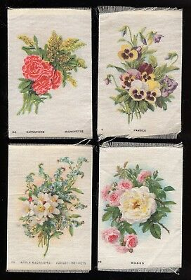 Lot 56: 1910s SC? Imperial Tobacco Flowers group of 4 silk tobacco