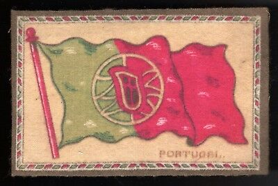 Lot 52: 1910s B7 Flags Felt Blanket -- Portugal -- tobacco, cigarettes
