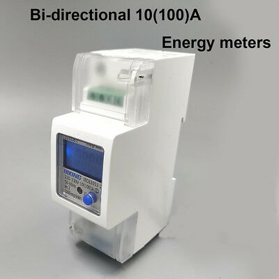 10(100)A 220V 230V 50HZ 60HZ Din rail bi-directional Single phase energy meter