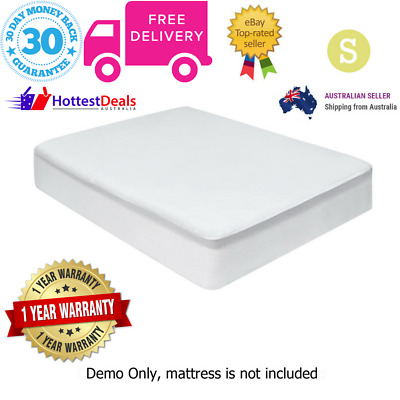 Terry Cotton Single Bed Waterproof Mattress Protector Fully Fitted Washable Soft