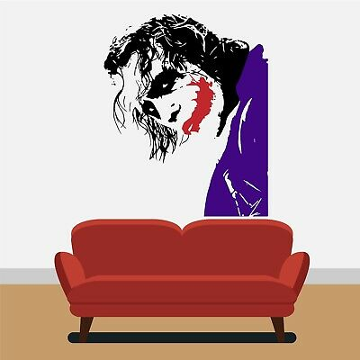The Joker Batman Wall Art Sticker Bedroom Vinyl Home Decor DIY Decal