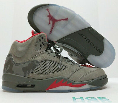 68c21fa5ed82b3 Nike Air Jordan Retro 5 Five Mens P51 V Dark Stucco 136027 051 Camoflauge  NIB