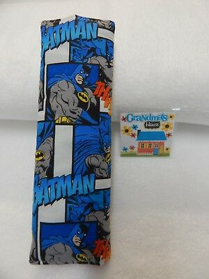 Batman Action - Blue  Car Seat Belt Cover Fits FULL SIZE SEAT BELT - ONE ONLY