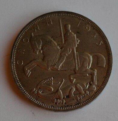 1935 George V Great Britain Rocking Horse Silver Crown