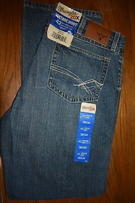 ce5ad54d Men's Wrangler 20X Vintage Boot Cut Jeans no. 42 size 38X34 BRAND NEW  42MWXST
