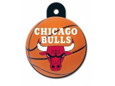 Chicago Bulls Dog ID Tags and Pet ID Tags - NBA basketball circle shaped
