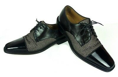 126cbe9cb5a4 100% Authentic CHRISTIAN LOUBOUTIN Bruno Orlato Derby Shoe Straw Patent Toe  41 8