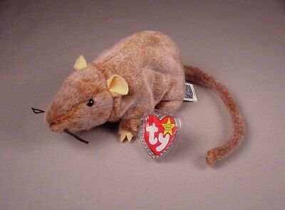 Ty Beanie Baby Babies Tiptoe the Mouse Rat toy Mint with Tags MWT NWT 1999