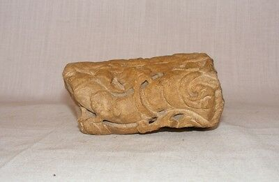 Original Old Rare Antique Stone Carved Lion / Animal Fragment Of Temple