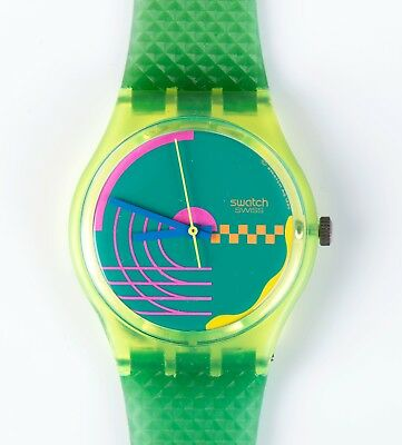 1990 Swatch Watch GJ104 Honor Ride New old stock. Original Retail Case.