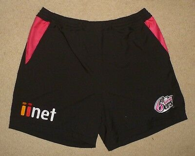 New Unworn XL Mens SYDNEY SIXERS SYDNEY 6ERS Shorts Pants Black Pink