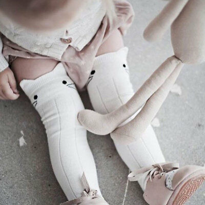 Baby Girls Cotton Long Socks Knee High Socks Stocking Tights Cute Lovely Cartoon