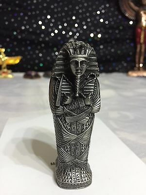 Vintage Hand Made Pewter Egyptian King Tut Coffin 1982 Made In Egypt