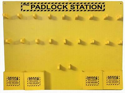Padlock Lockout Tagout Station without Material