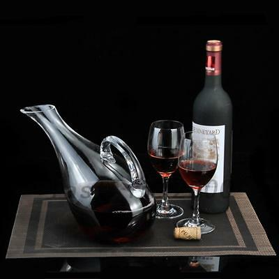 1500ML Oblique Mouth Lead-free Crystal Glass Carafe With Handle Wine Decanter
