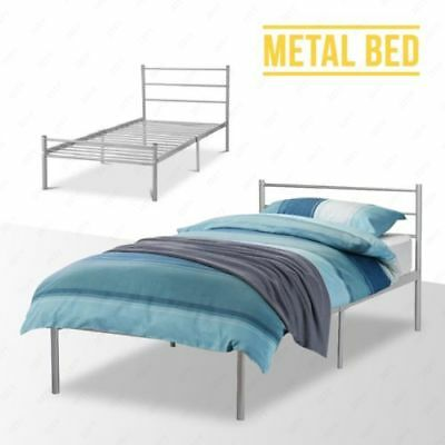 3FT 4FT Metal Bed Frame Strong Bedstead in Single or Double Bedroom Furniture