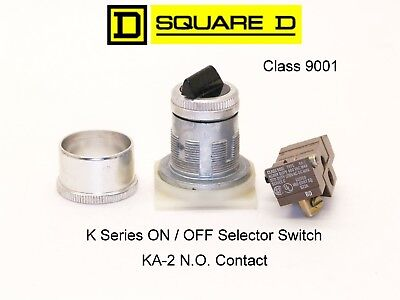 SQUARE D Selector Switch On / Off Class 9001 KA-2 N.O. Contactor