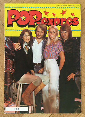 ABBA - SWEDEN SWEDISH POSTER MAGAZINE POP EXPRES 1970s #2-1976 - VERY RARE