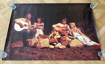 ABBA Campfire 1976 Scandecor Poster Sweden. Large Poster 100 X 70 cm - Very Rare