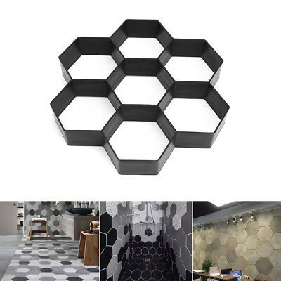 Pathmate Plastic Stone Pave Mold Concrete Stepping Walk Way Mould Paver Hexagon