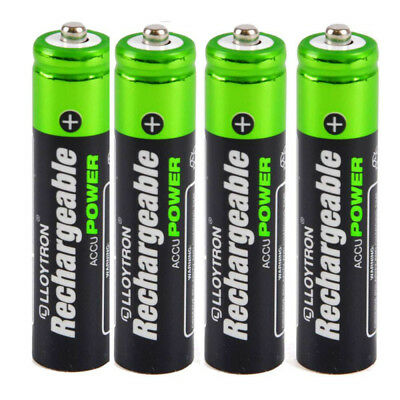 4 x LLOYTRON 550 mAh AAA RECHARGEABLE Ni-MH BATTERIES IDEAL FOR CORDLESS PHONE