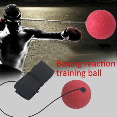 Sports Tennis Boxing Training Ball Punching MMA Fight Fitness Practice Speedball