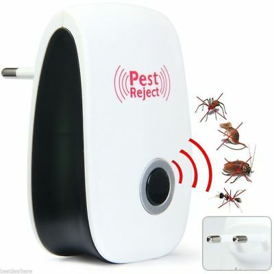 Electronic Ultrasonic Pest Reject Mosquito Cockroach Fly Mouse Killer Repeller