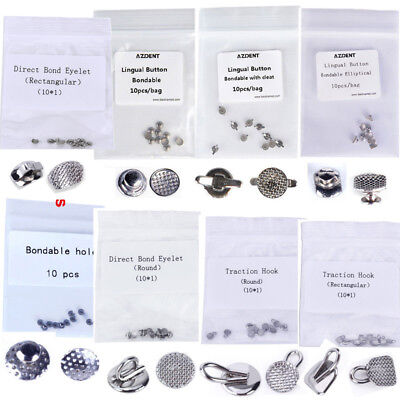 100pcs Dental Orthodontic Lingual Buttons Bondable Round Base Direct Eyelets