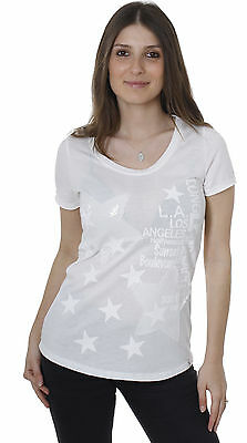 Key Largo Damen Party T-Shirt Top PEACE weiß WT00005