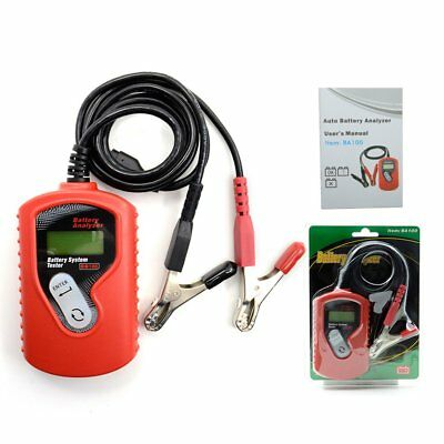 12V Car Battery Tester Digital BA100 Vehicle Battery Analyzer for All Cars F7
